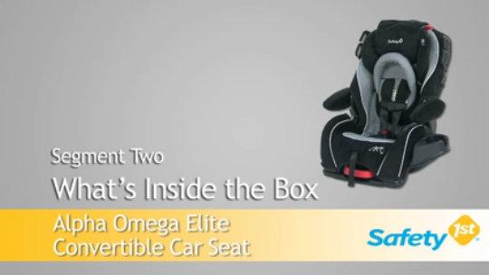 Alpha Omega Elite Convertible Car Seat 4358 5835